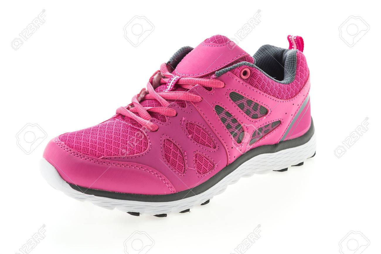 Pink Sport Running Shoes Isolated On
