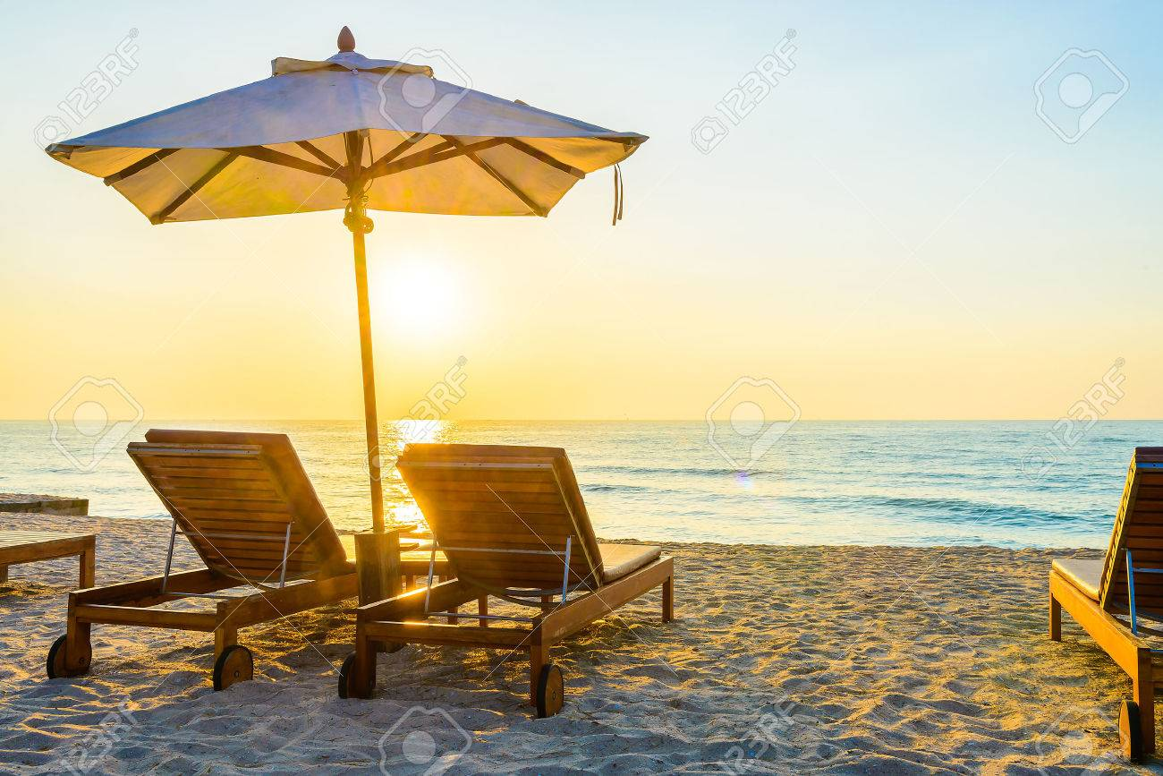 Beach umbrella and chair png - Beach Chair And Umbrella Beach Bed With Sun Flare Twilight Time