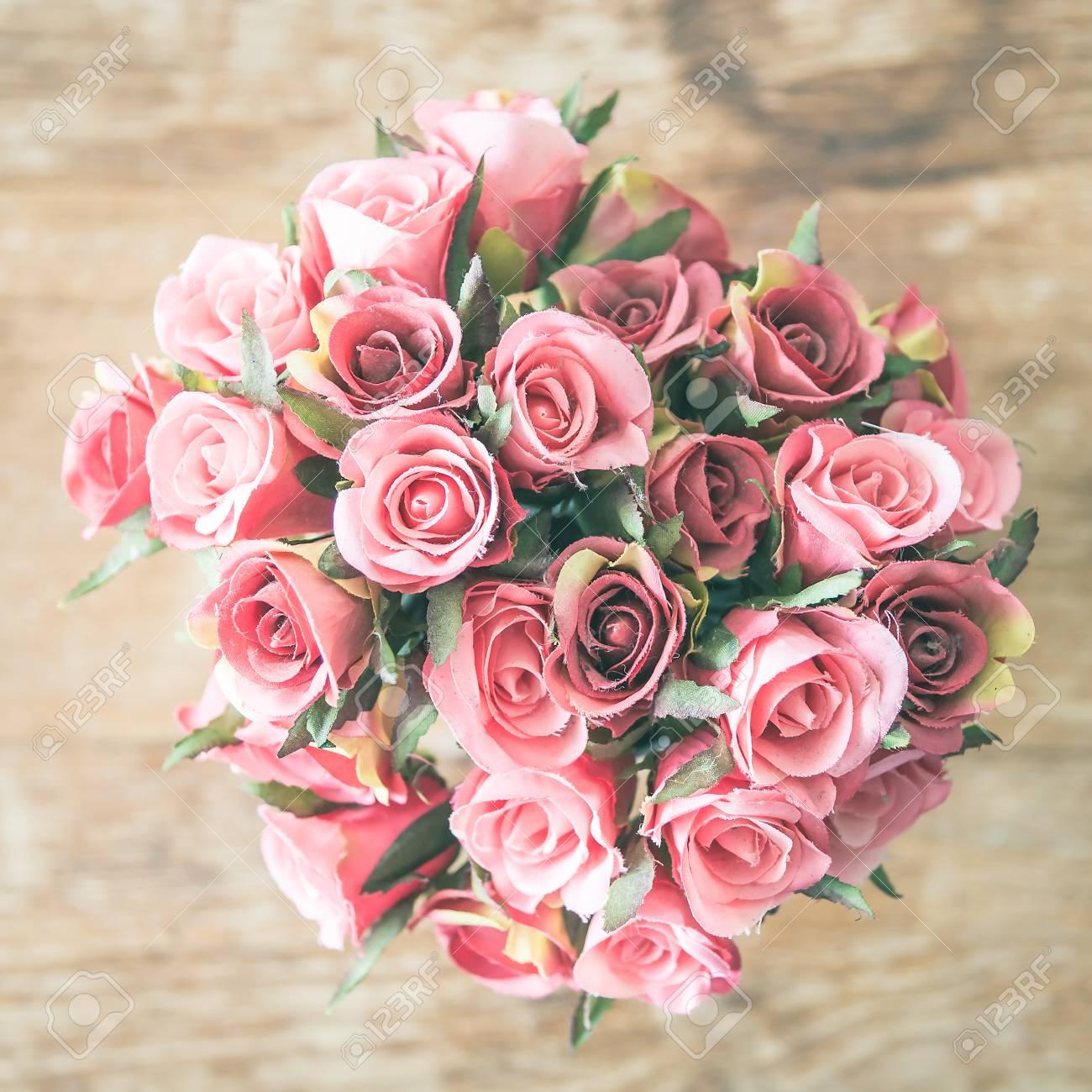 123RF.com & Rose flower vase - vintage effect filter