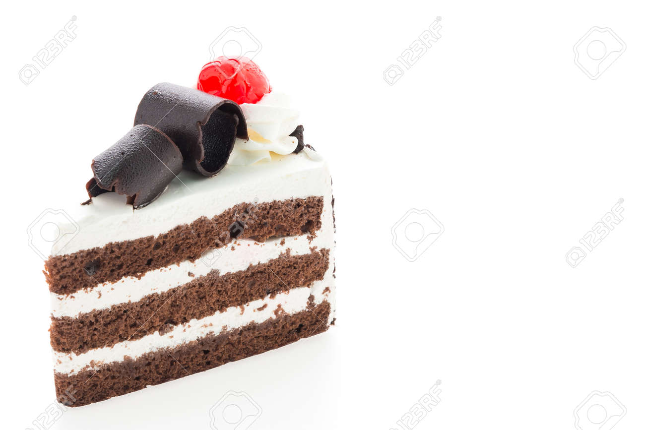 Black forest cakes isolated on white background Standard-Bild - 41582708