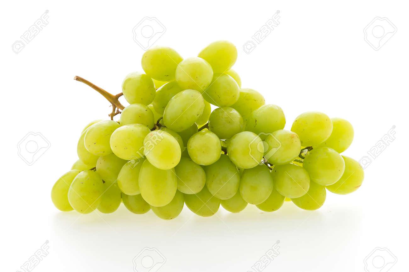 Green grape fruit isolated on white background Standard-Bild - 41821700