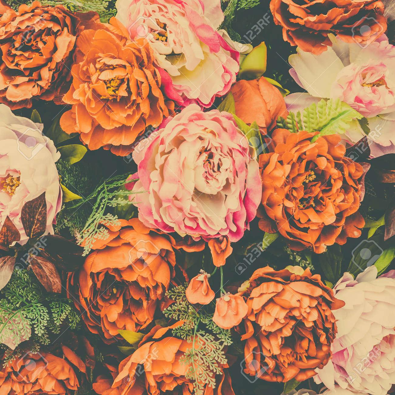 Banque d\u0027images , Belle fleurs vintage background , effet de filtre  millésime