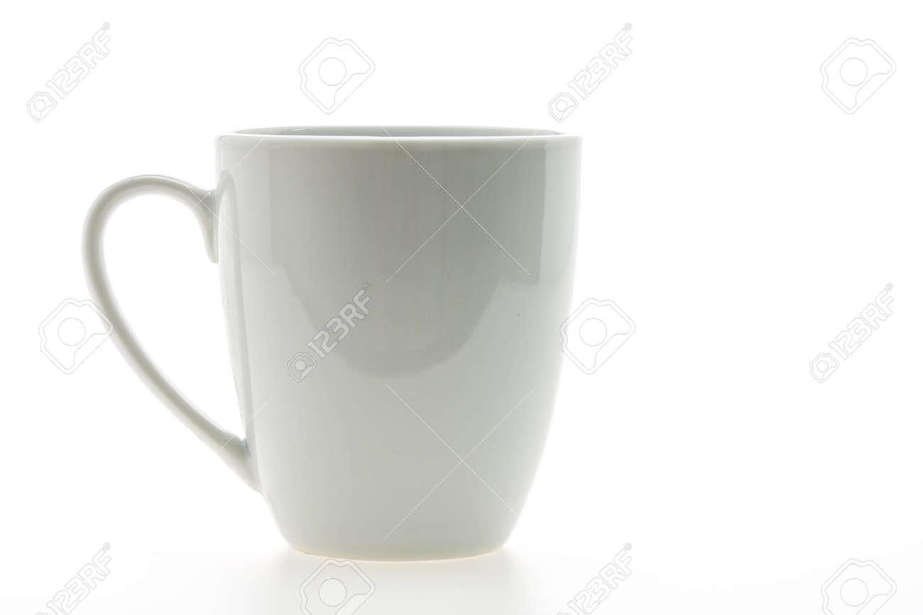 Empty coffee cup or coffee mug isolated on white Standard-Bild - 42625210