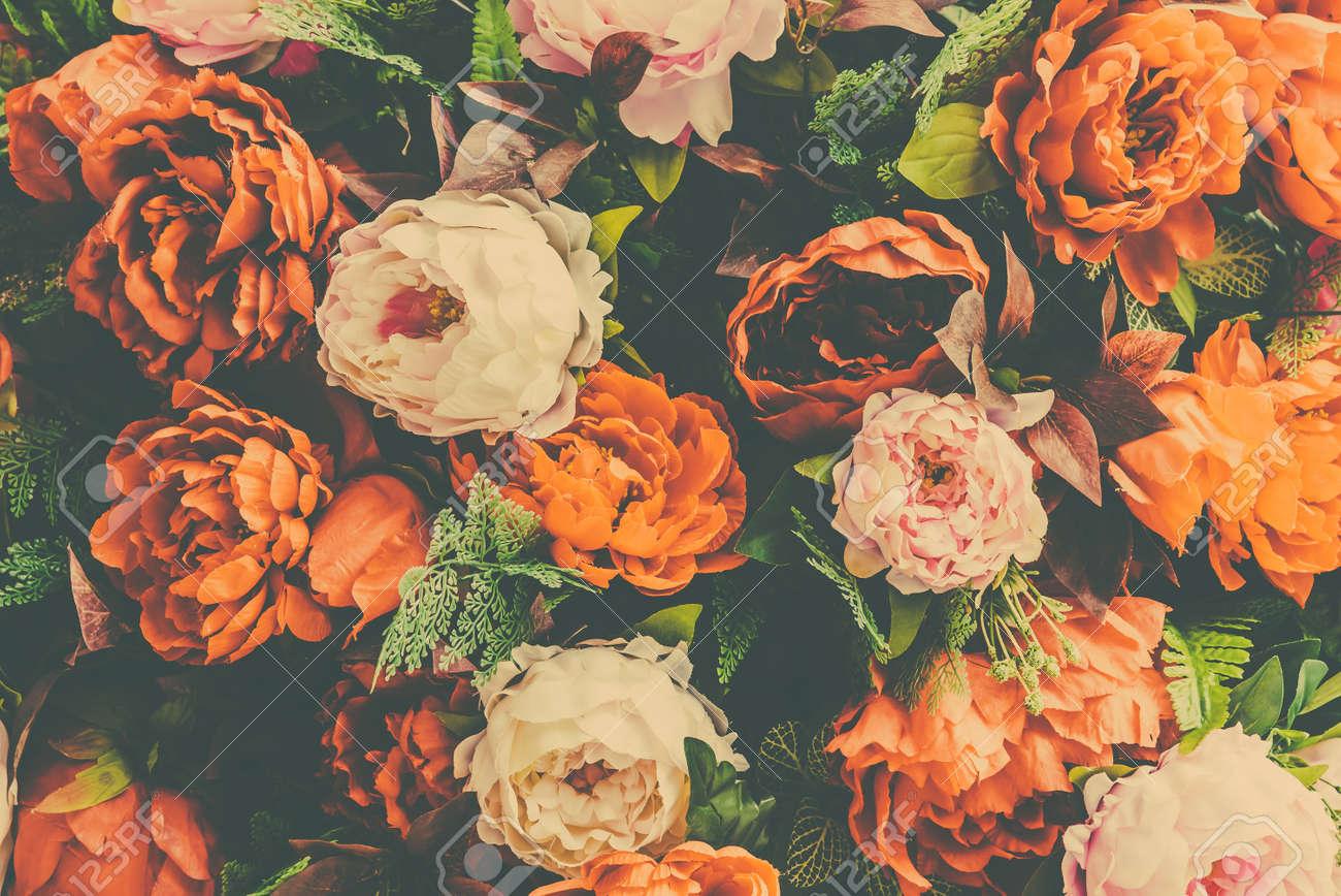 Belle fleur vintage background , effet de filtre millésime Banque d\u0027images  , 42862597