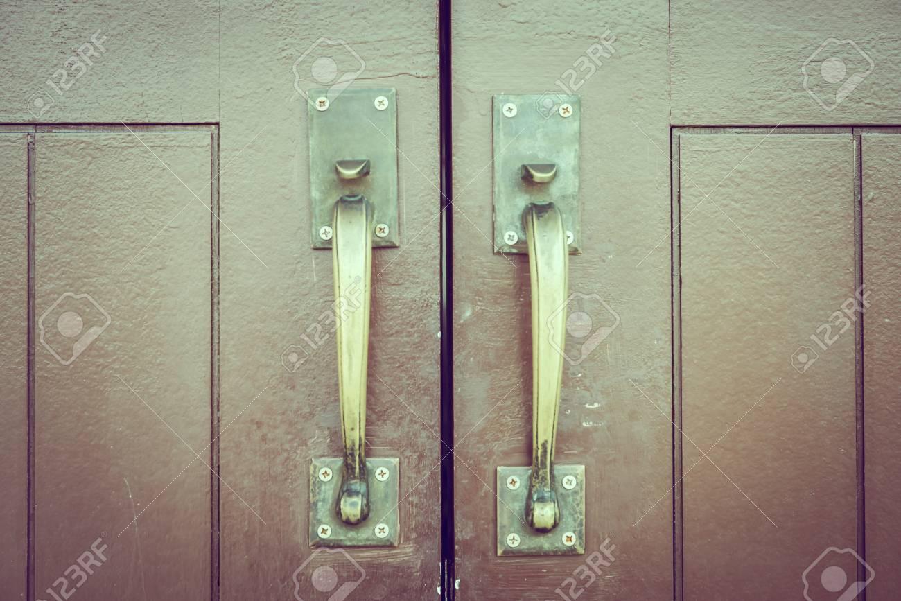 Stock Photo - Vintage door knob - vintage filter