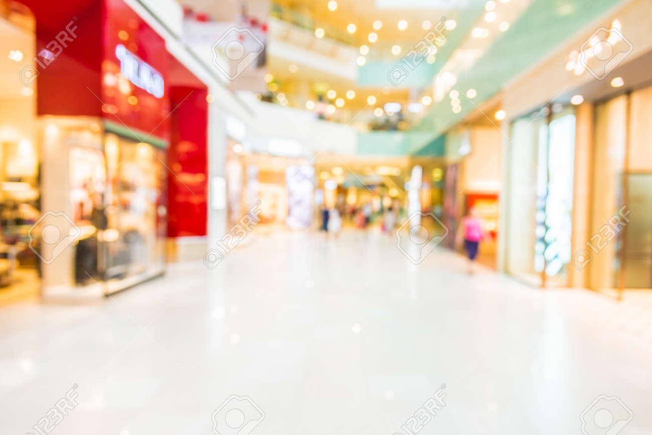 Abstract blur shopping mall Standard-Bild - 44316419