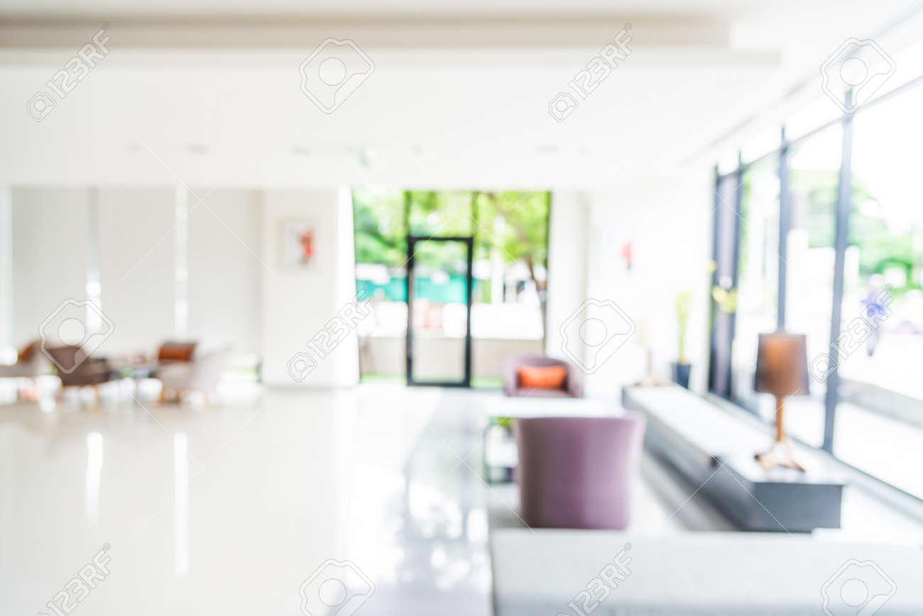 Abstract blur hotel interior lobby background Standard-Bild - 44382949