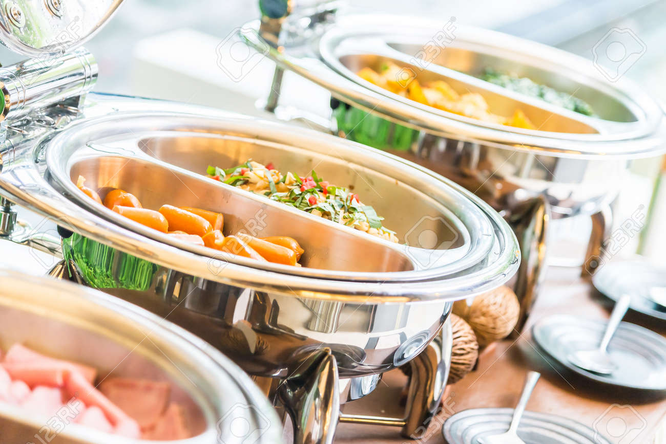 Selective focus point on Catering buffet food in restaurant Standard-Bild - 45259914
