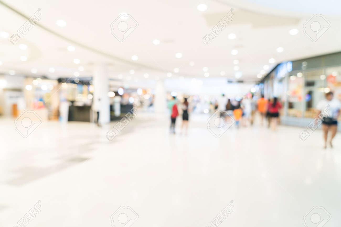 Abstract blur shopping mall background Standard-Bild - 45670062