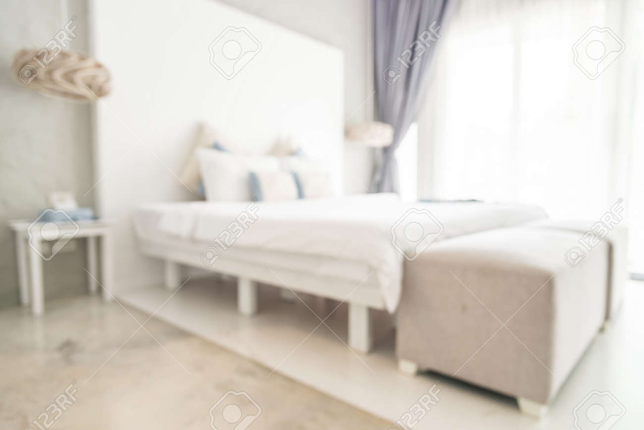 Abstract Blur Bedroom Background Stock Photo Picture And Royalty