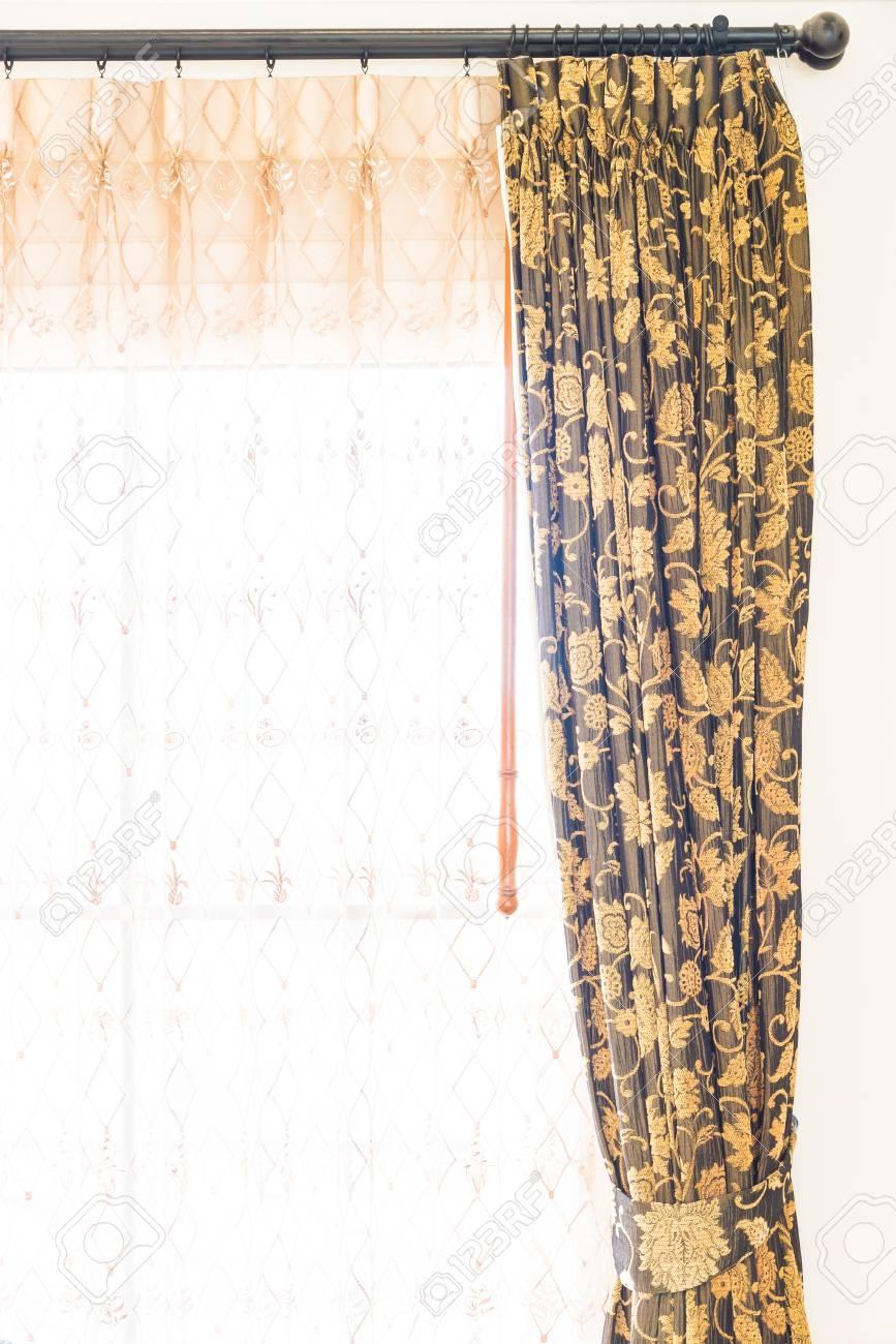 Decoration De Rideau décoration de rideau de fenêtre dans l'intérieur de la chambre