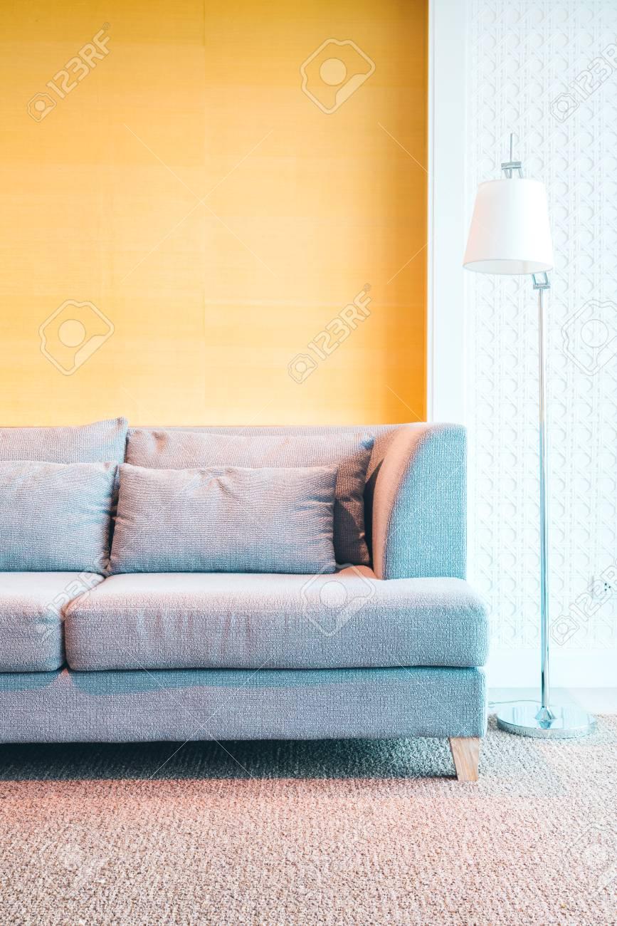Schöne Luxus Dekoration Wohnzimmer Inter   Filter Effektverarbeitung  Standard Bild   50481595