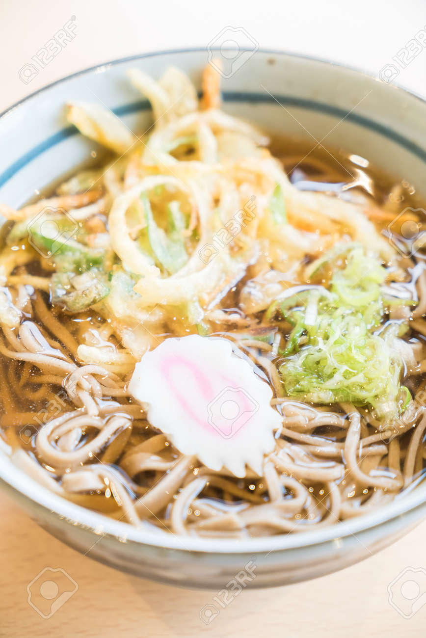 Hot Ramen Noodles With Tempura Japanese Style Food