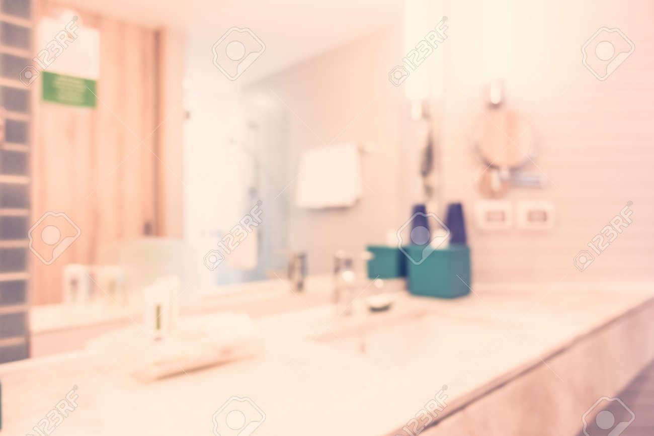 Zusammenfassung Unschärfe Badezimmer Interieur Für Den Hintergrund ...