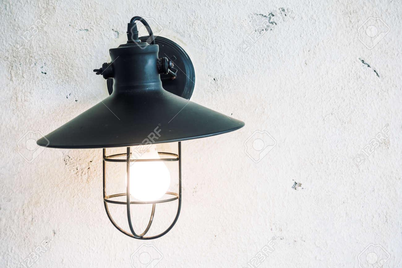 Lampada luce sulla parete decorazione soggiorno interni - Vintage luce  Filtro