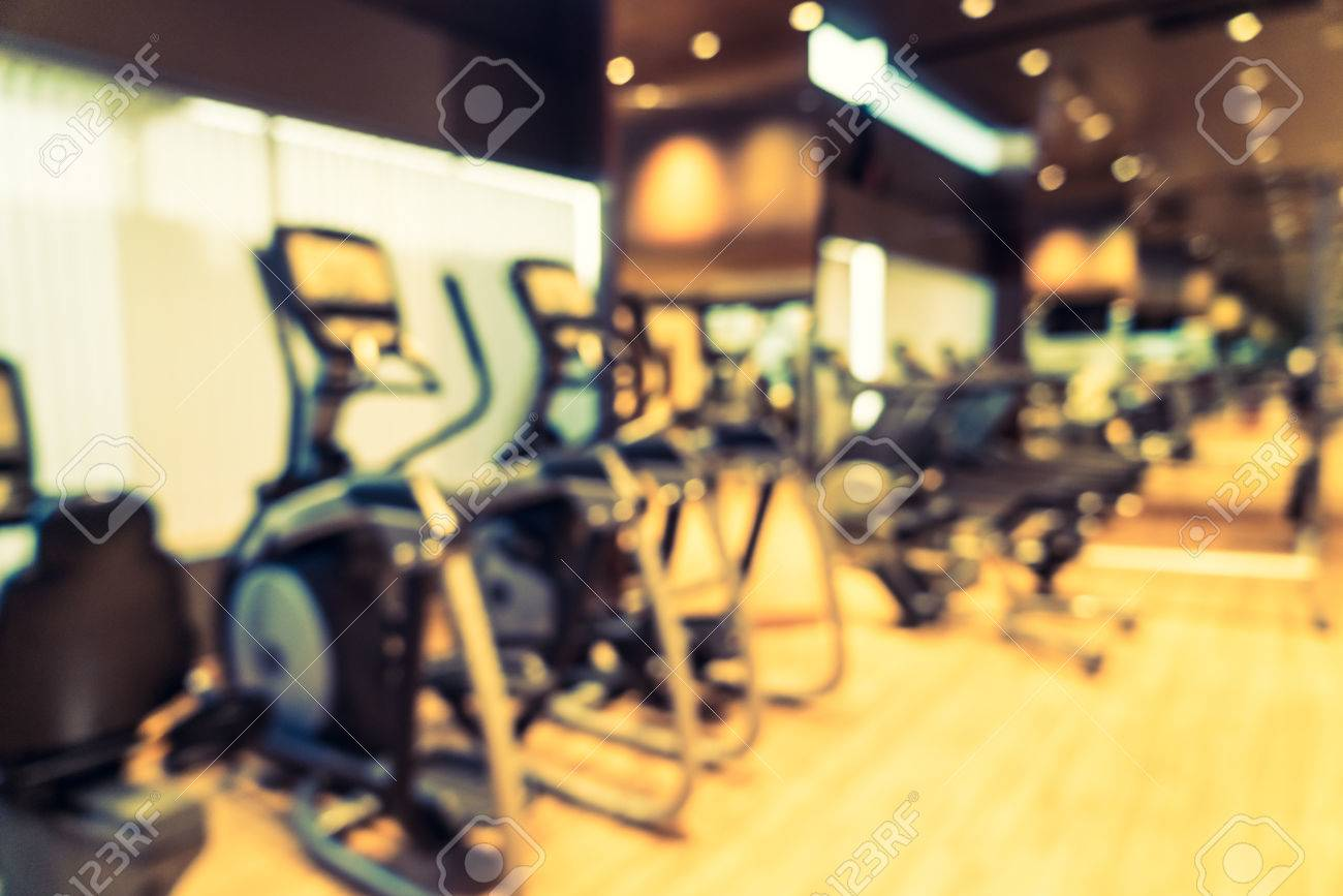 Abstract blur fitness gym room background stock photo edit now