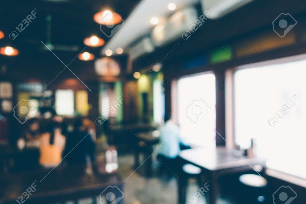 Zusammenfassung Unschärfe Restaurant Interieur Für Den Hintergrund ...