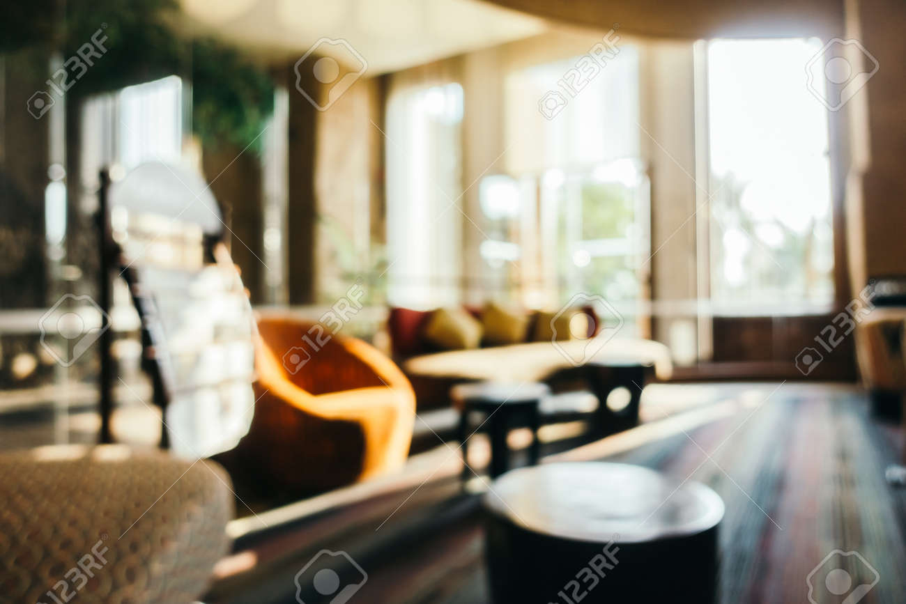 Zusammenfassung Unschärfe Hotelanlage Lobby Interieur - Vintage ...