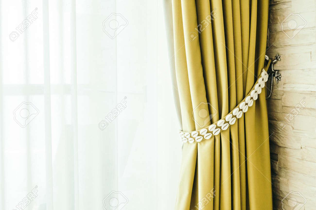 Beautiful Luxury Window Curtains Decoration In Bedroom Interior