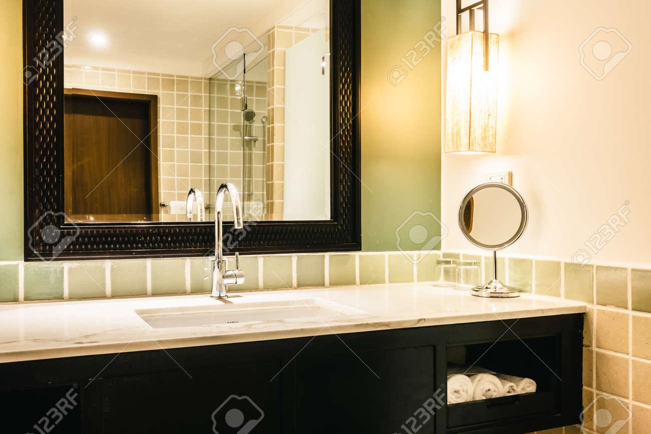 Beautiful Luxury Sink Decoration In Bathroom Interior - Vintage ...