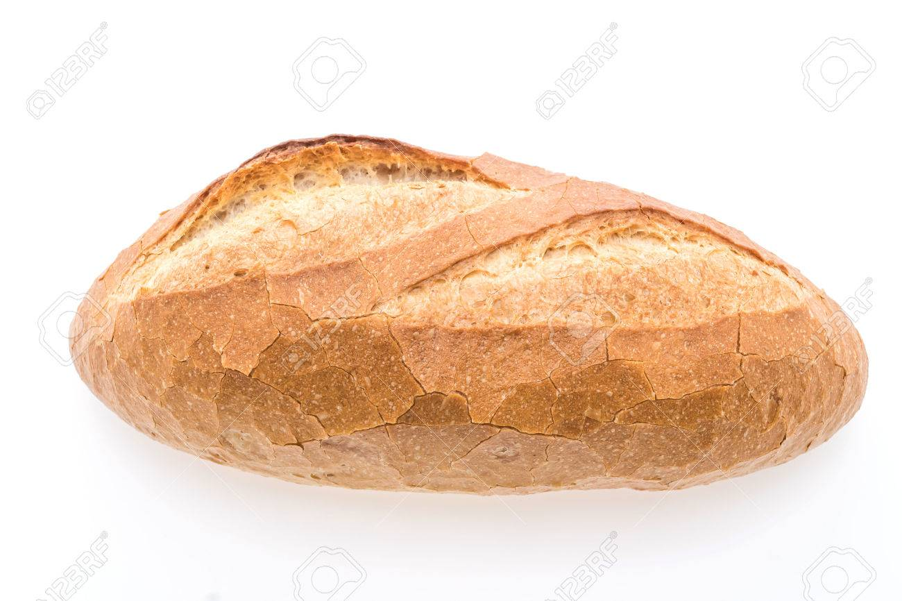 Sourdough loaf bread isolated on white background - 57653893