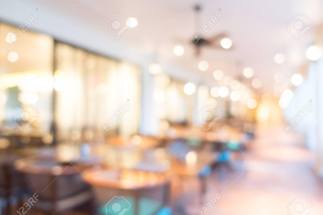 Restaurante De Lujo Hermosa Resumen Borroso Y El Interior Del Café ...