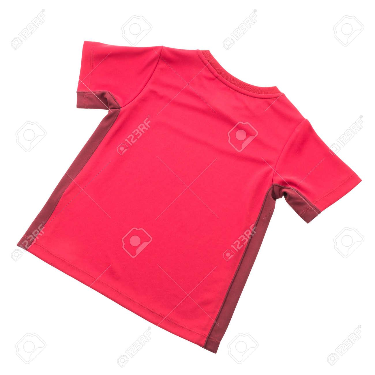 timeless design ac006 522a5 Camicia rossa T per l'abbigliamento isolato su sfondo bianco