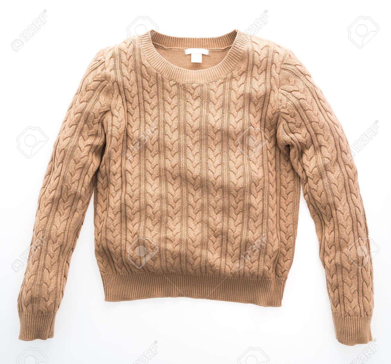 Fashion Sweaters clothing for winter season isolated on white..