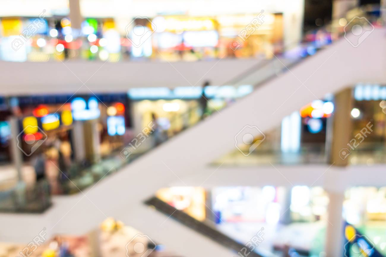 Abstract blur and defocused shopping mall and retail interior of department store for background - 120327394