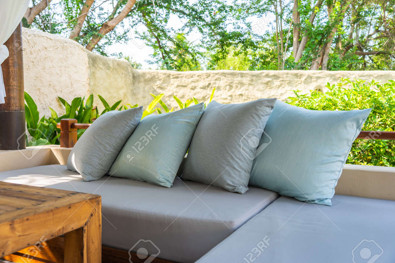 Superb Pillow On Sofa Chair Decoration Outdoor Patio With Garden View Ocoug Best Dining Table And Chair Ideas Images Ocougorg
