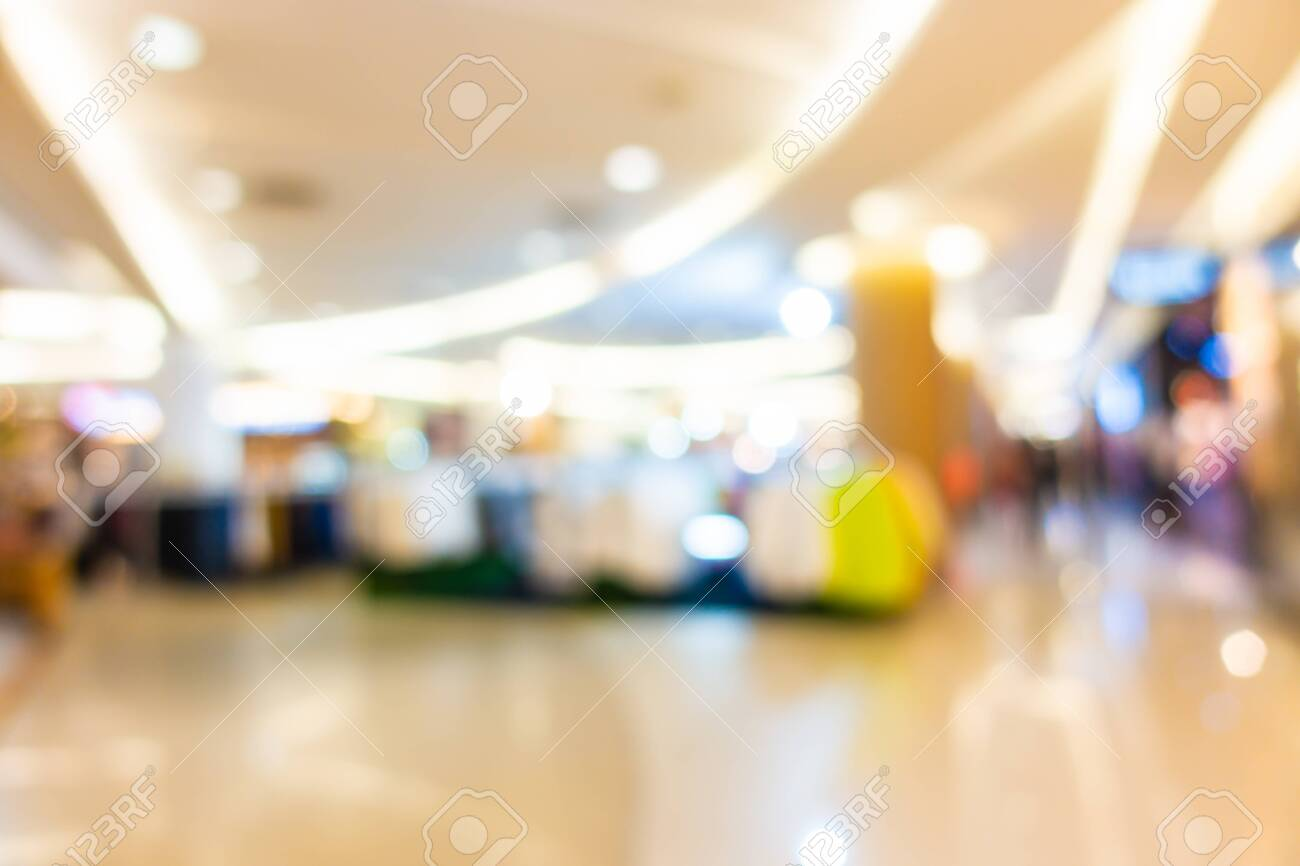 Abstract blur shopping mall in department store interior for background - 136414436