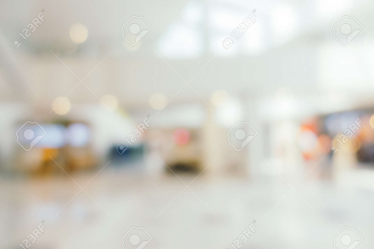 Abstract blur and defocus shopping mall in department store interior for background - 146325282