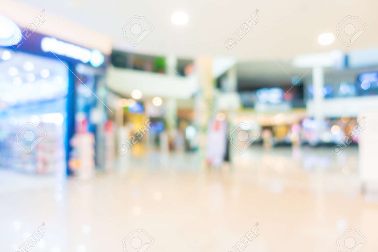 Abstract blur and defocus supermarket of shopping mall in department store interior for background - 147165944