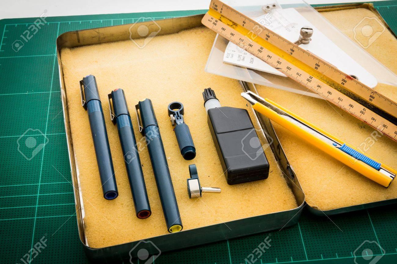 grünschnittmatten, stift zeichnungen, passen winkel werkzeug, lineal