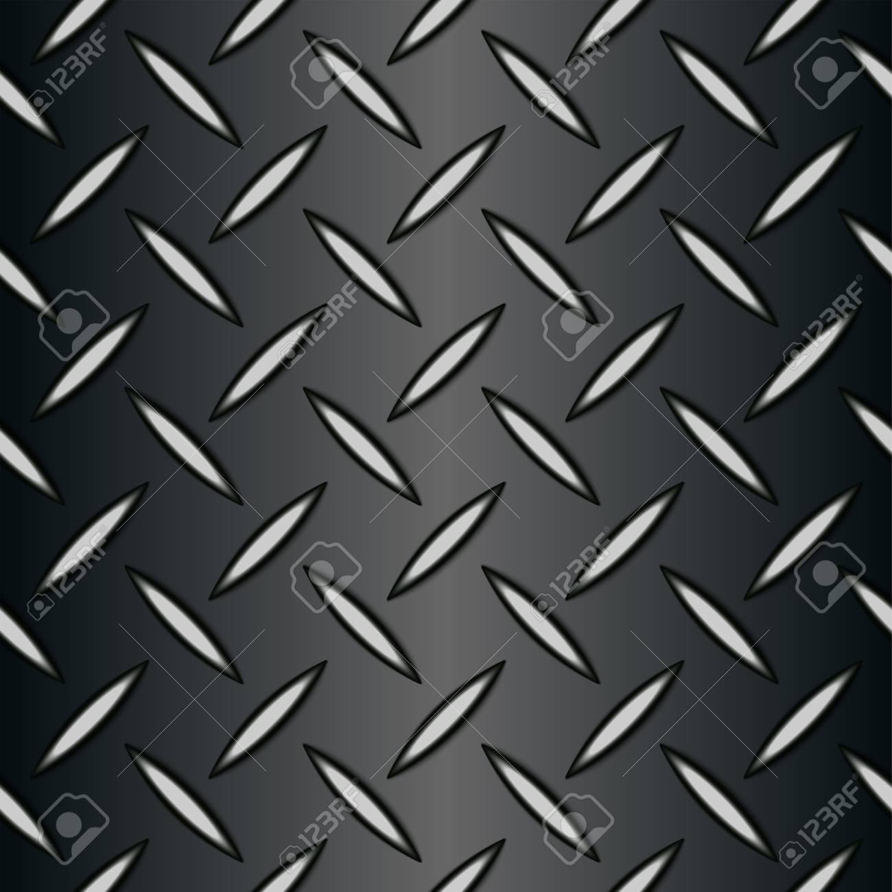 Metal Background Of Seamless Diamond Plate Texture Wallpaper