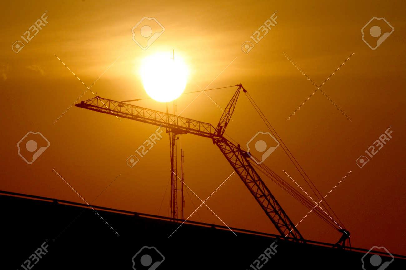 Construction crane silhouette Stock Photo - 17667267