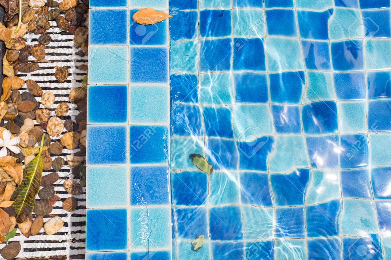 blue swimming pool tile texture