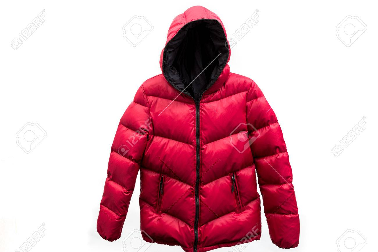 down jacket isolated on white background - 50476648