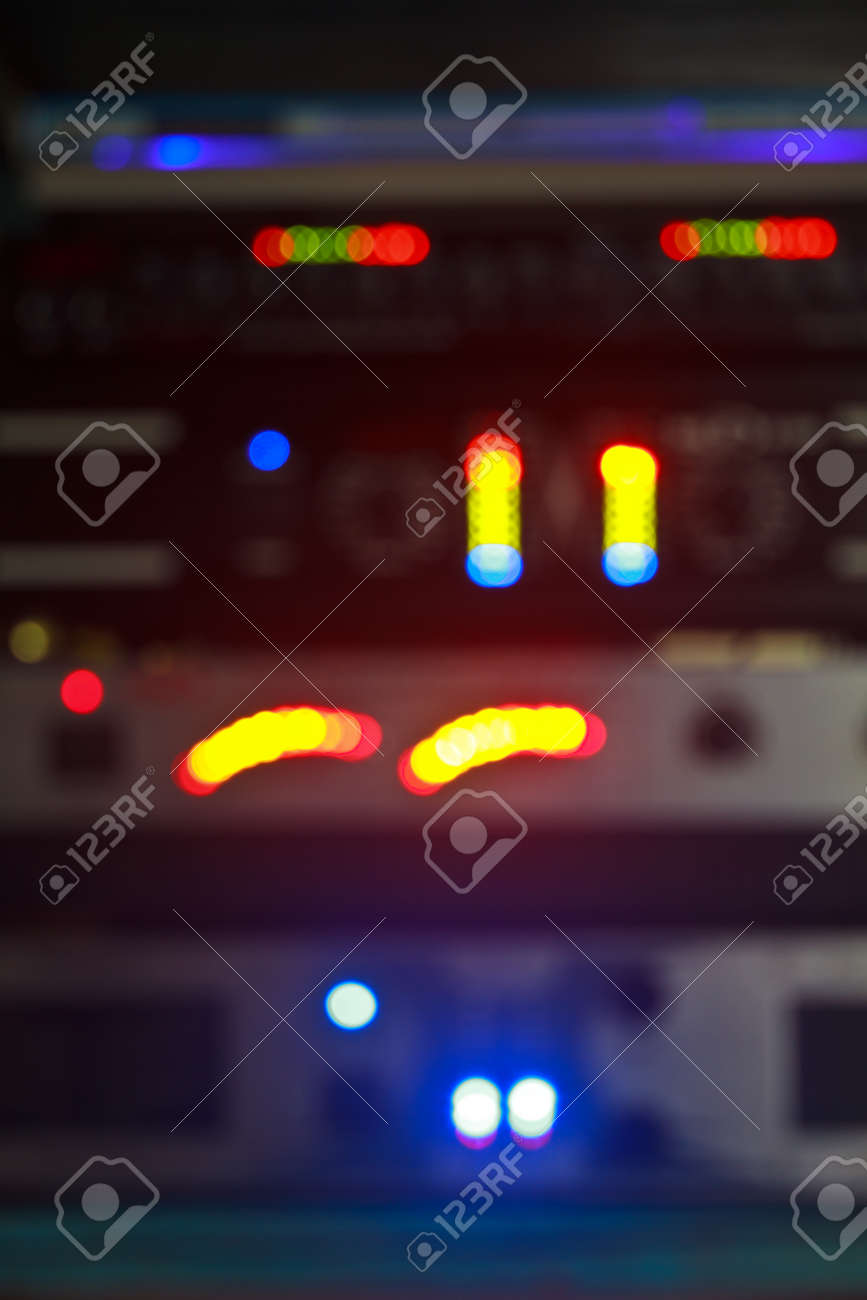 abstract blur, music equalizer,  Sound waves set  Music background Stock Photo - 25120765