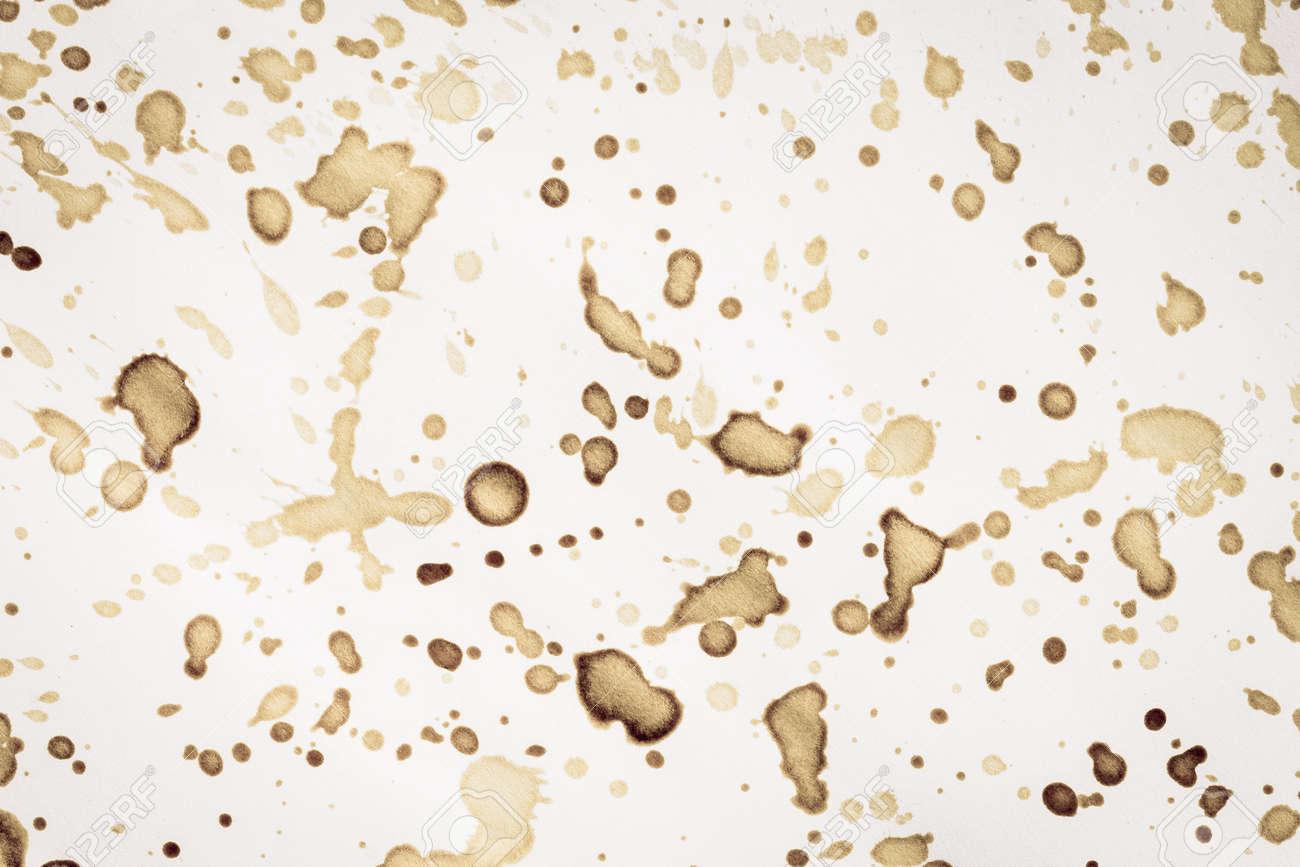コーヒーの染みのついた古い用紙 1 枚 の写真素材 画像素材 Image