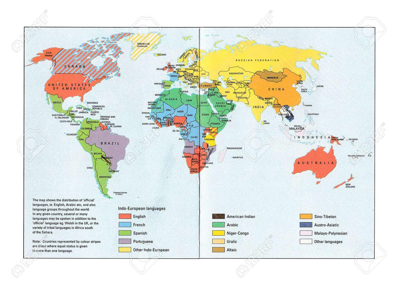 Chiang Mai THAILANDFebruary Map Of The World Language - World languages map