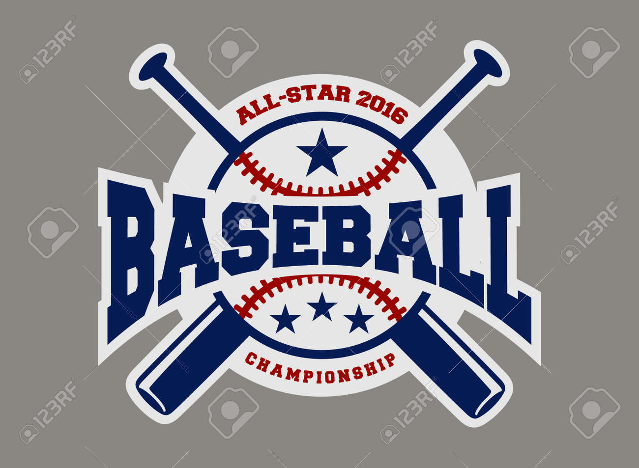 baseball sport badge logo design template and some elements for