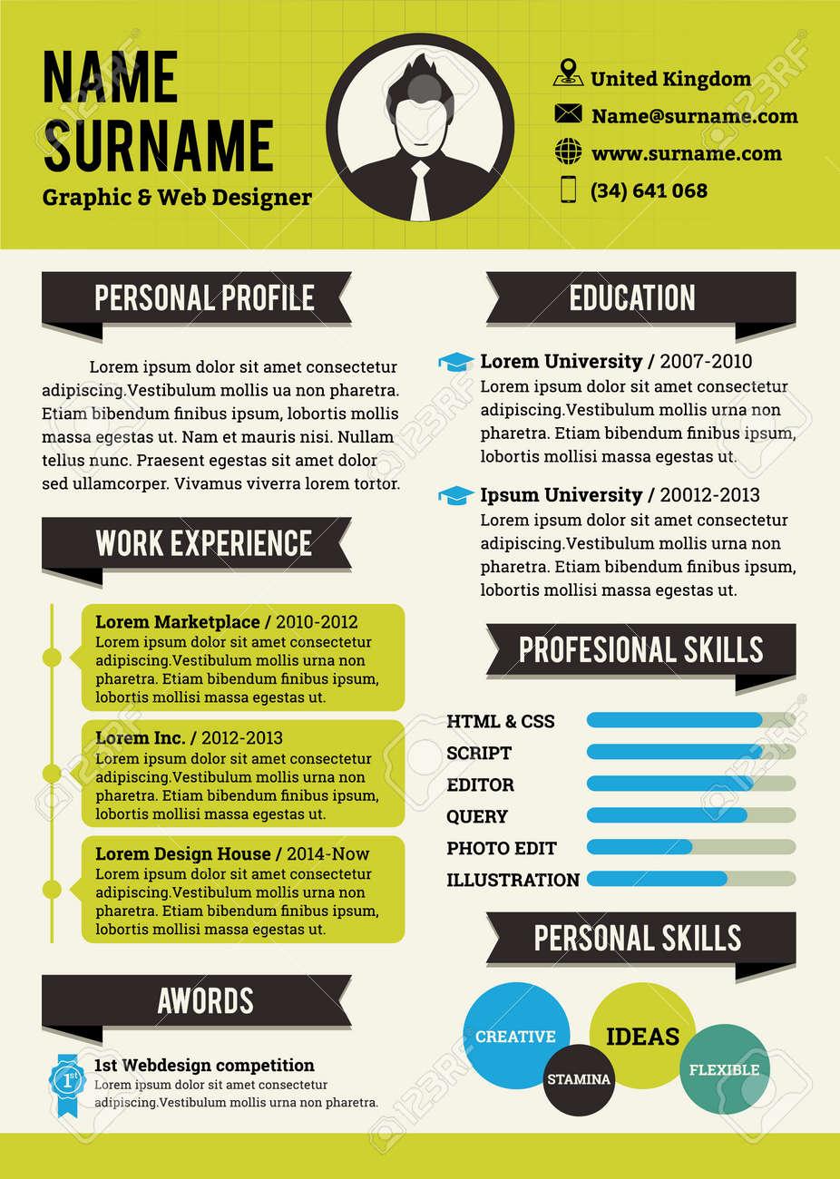 green personal curriculum vitae template simplicity professional
