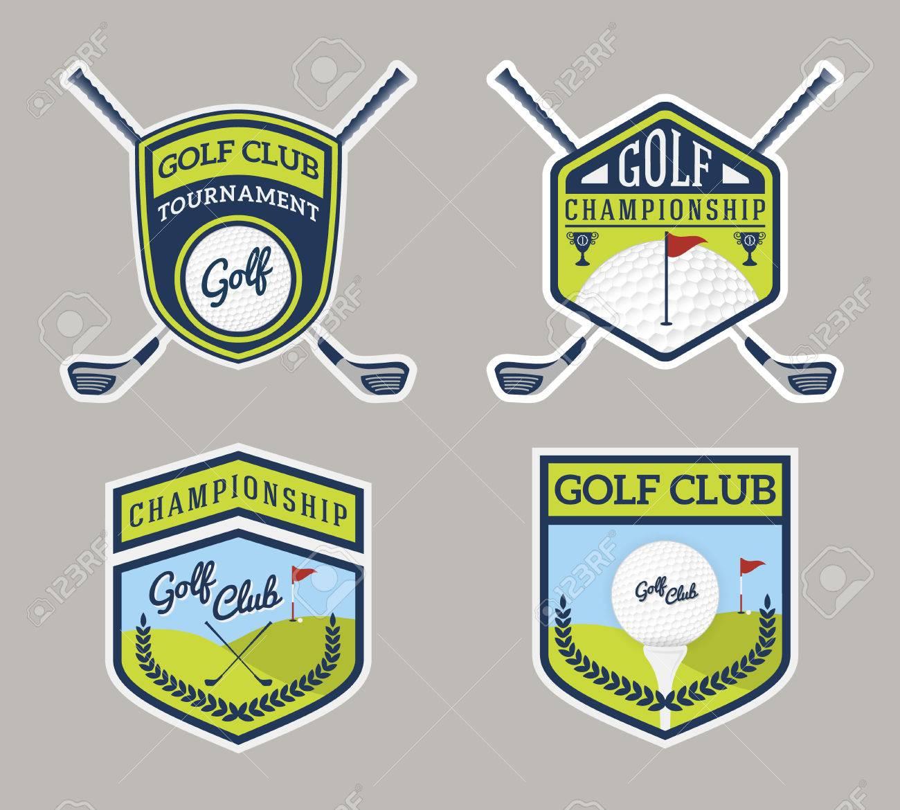 Auténtico Diseño Logo Golf Moderno Deporte Insignia. Para Logotipo ...