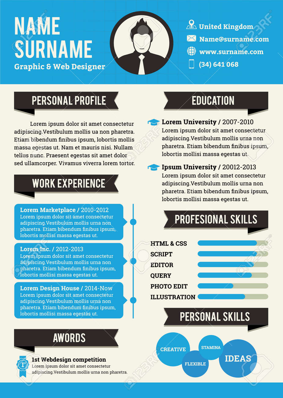 resume template bundle cv package with cover letters for ms word ...