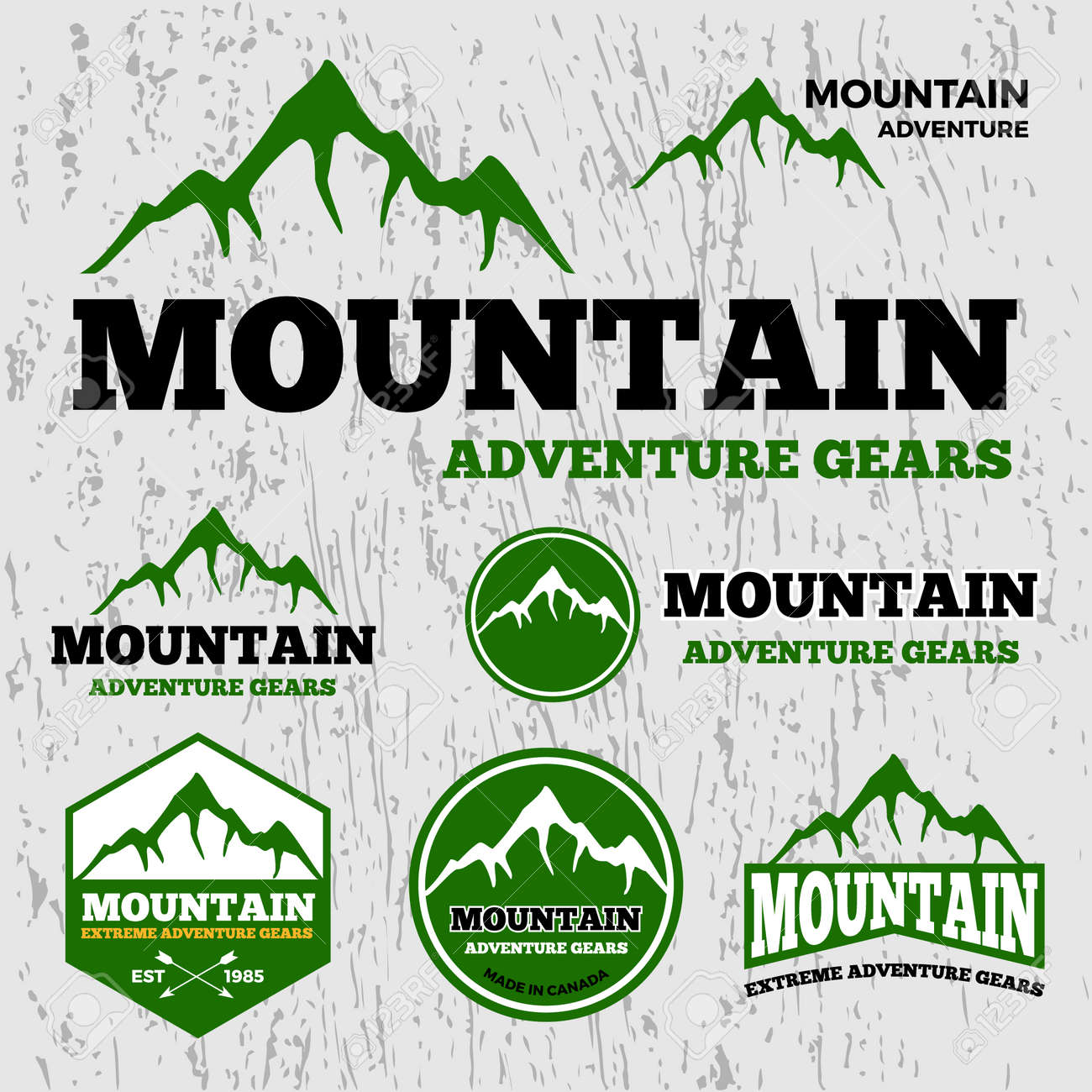 Premium Mountain Adventure Vector Logo Template The Fonts Used ...