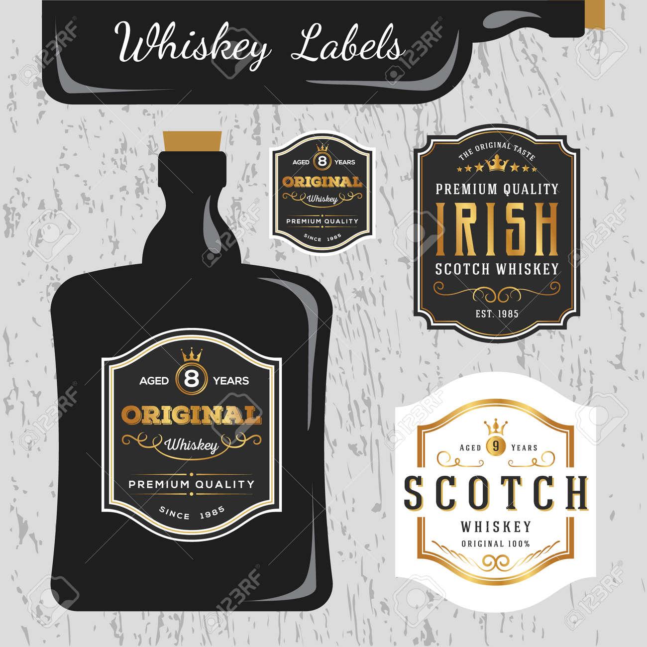Whiskey Brands Label Design Vorlage In Der Lage Und Grosse Andern