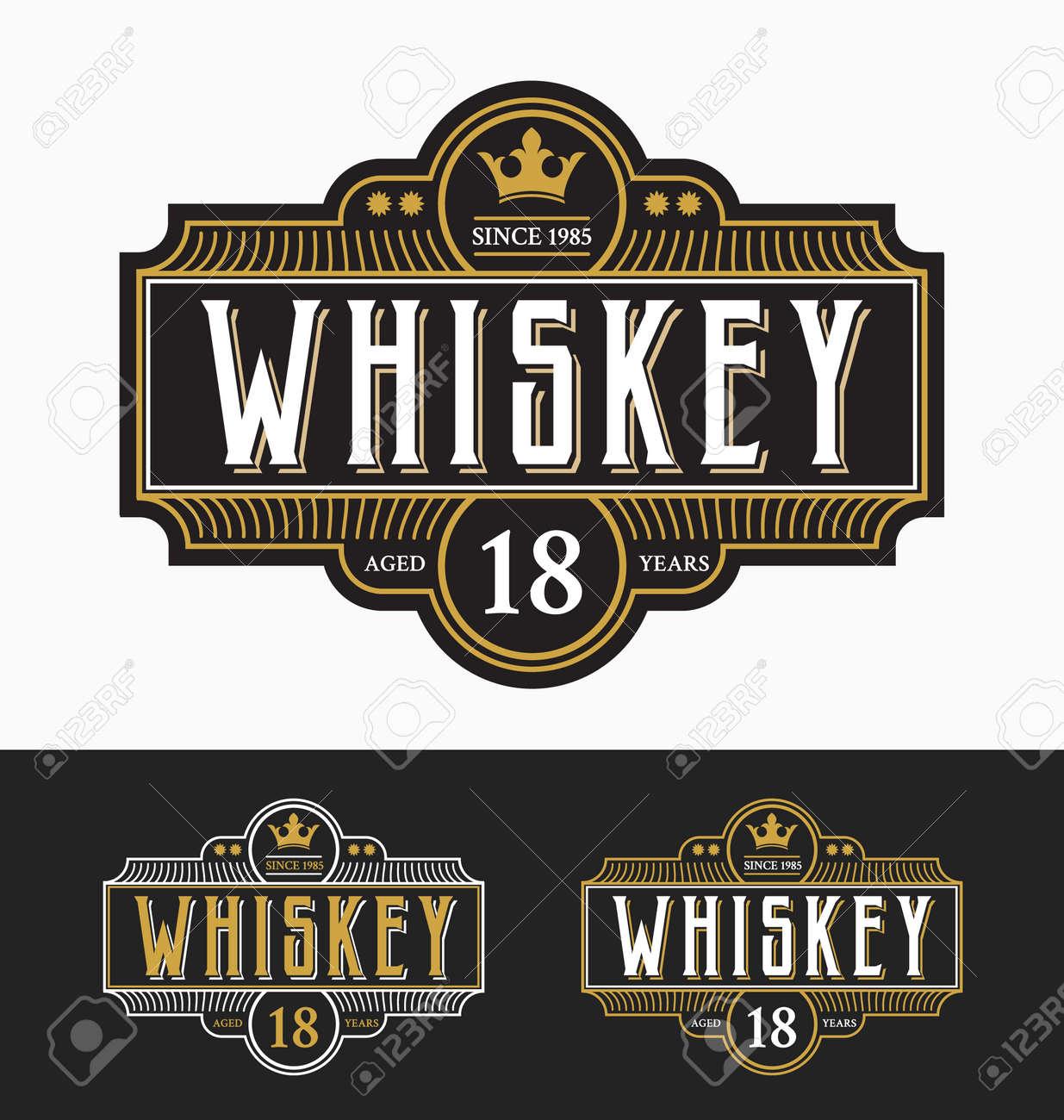 Vintage frame label design. Suitable for Whiskey and Wine label, Restaurant, Beer label. - 46957628