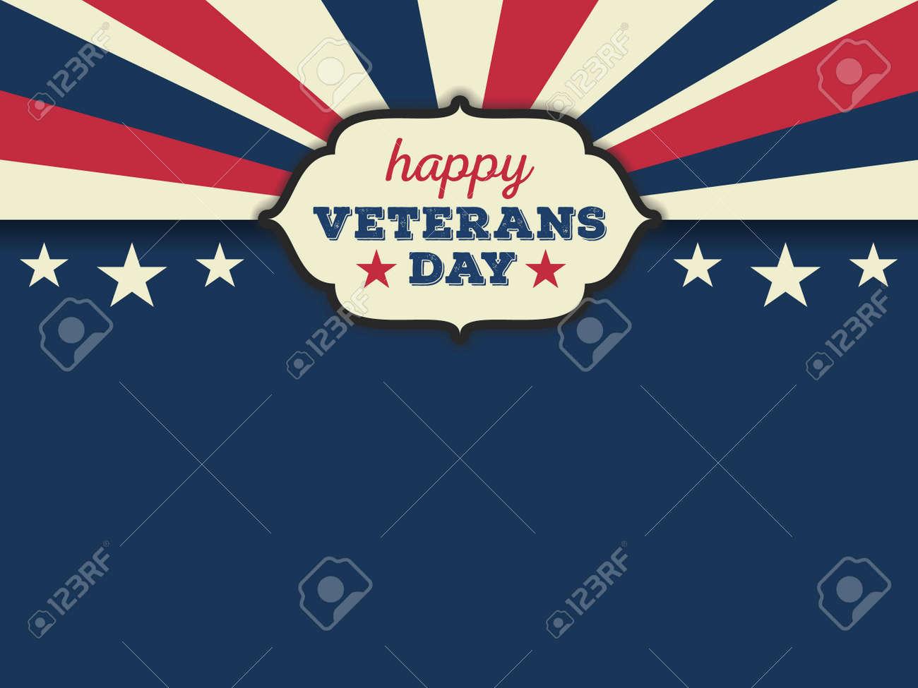 Happy veterans day horizon background. Vector illustration aspect ratio 43 - 46967081