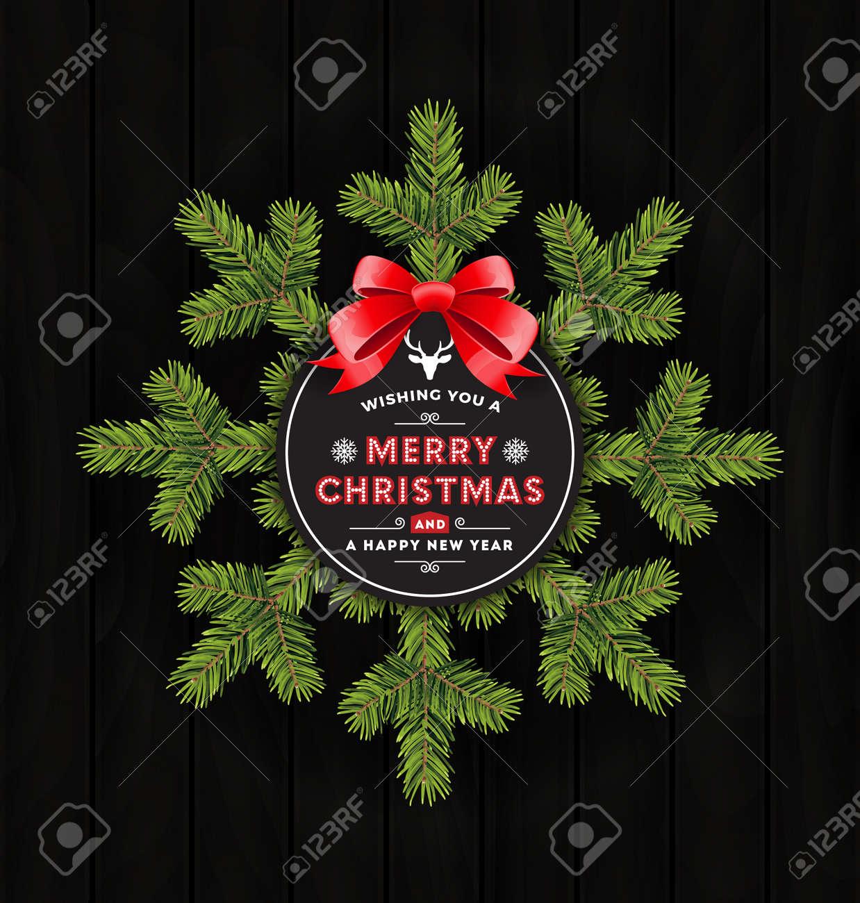 Frohe Weihnachten Gruß Und Guten Rutsch Ins Neue Jahr. Design-Banner ...